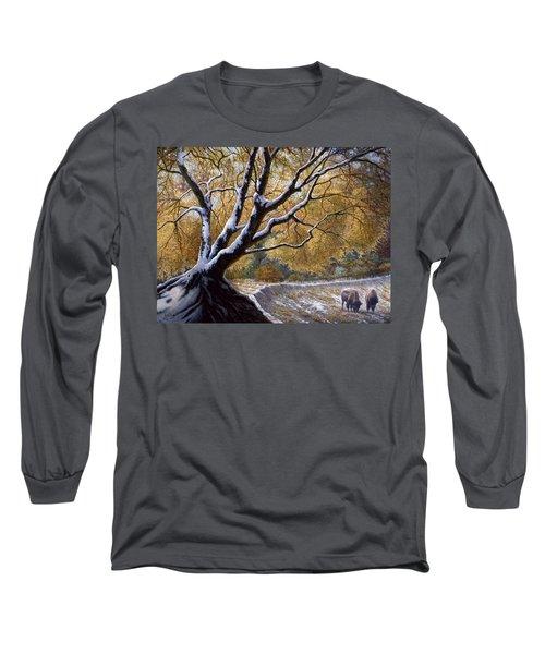The First Snow Idaho Long Sleeve T-Shirt