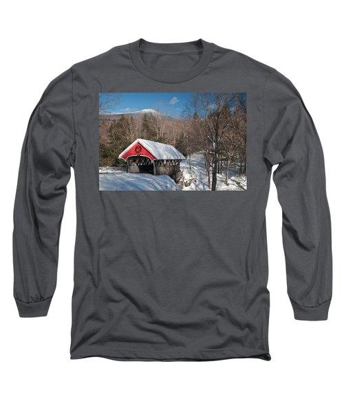 The Flume Bridge In Winter Long Sleeve T-Shirt