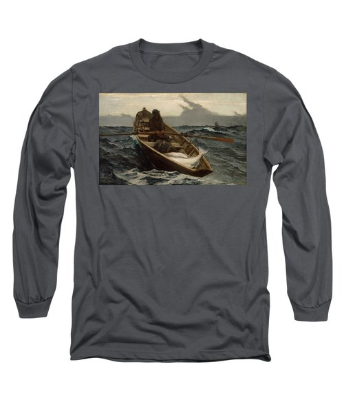 The Fog Warning .halibut Fishing Long Sleeve T-Shirt