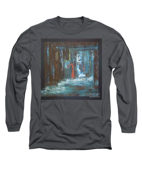 Long Sleeve T-Shirt featuring the painting The Free Passage by Mini Arora