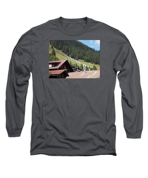 The Funicular In Murren Long Sleeve T-Shirt