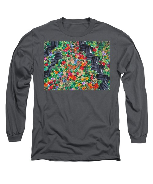 Long Sleeve T-Shirt featuring the painting The Garden Path by Michele Myers