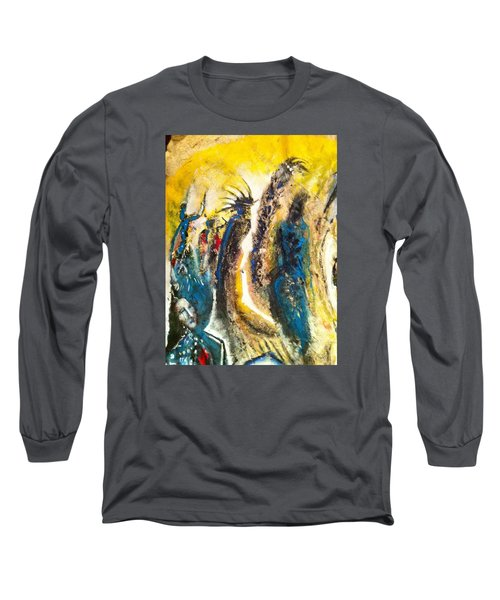 Long Sleeve T-Shirt featuring the painting The Gathering by Kicking Bear  Productions