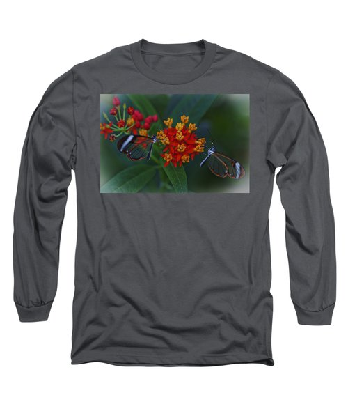 The Glasswinged Butterfly Long Sleeve T-Shirt