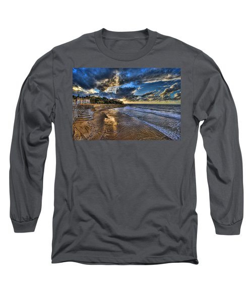 the golden hour during sunset at Israel Long Sleeve T-Shirt