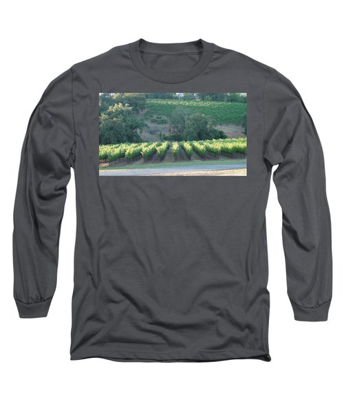 Long Sleeve T-Shirt featuring the photograph The Grape Lines by Shawn Marlow