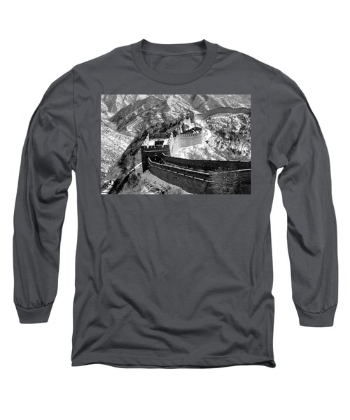 The Great Wall Of China Long Sleeve T-Shirt by Sebastian Musial