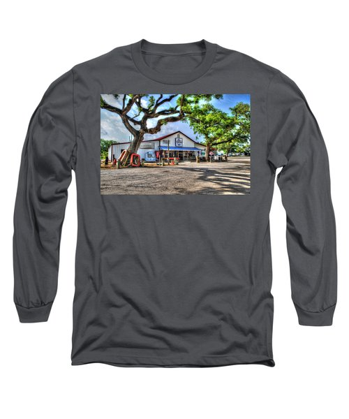 Long Sleeve T-Shirt featuring the digital art The Hardware Store by Michael Thomas