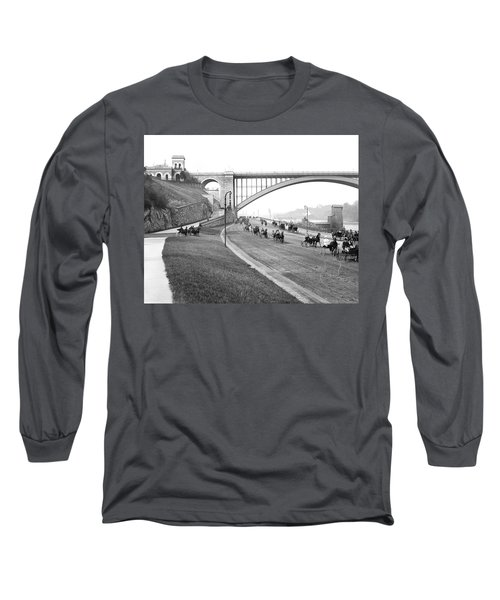 The Harlem River Speedway Long Sleeve T-Shirt by Detroit Publishing Company