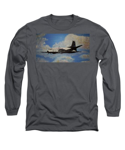 Long Sleeve T-Shirt featuring the painting The Hawker by Marilyn  McNish