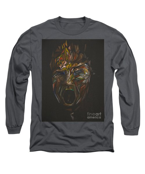 The Head Of Goliath - After Caravaggio Long Sleeve T-Shirt
