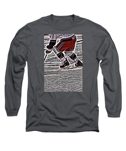 The Hockey Player Long Sleeve T-Shirt by Karol Livote
