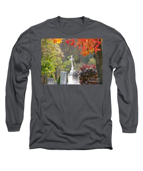 The Holy Cross Long Sleeve T-Shirt by Michael Krek