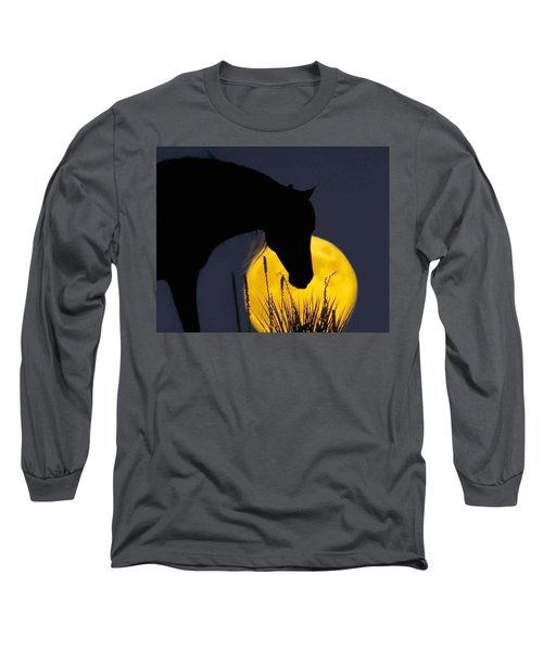 The Horse In The Moon Long Sleeve T-Shirt