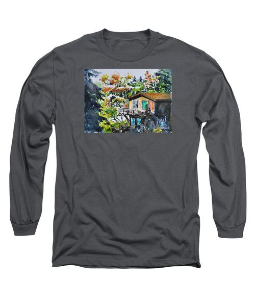 The House Hiding In The Bushes Long Sleeve T-Shirt