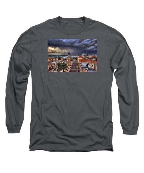 the Jaffa old clock tower Long Sleeve T-Shirt by Ronsho