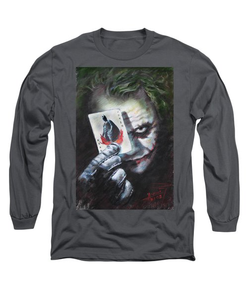 The Joker Heath Ledger  Long Sleeve T-Shirt