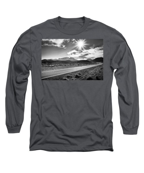 Long Sleeve T-Shirt featuring the photograph The Lonely Road by Howard Salmon