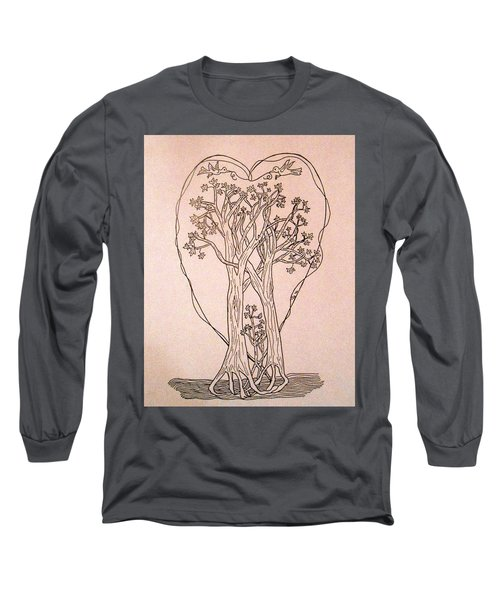 The Love And Celebration Of The Maple Tree Family Long Sleeve T-Shirt by Patricia Keller
