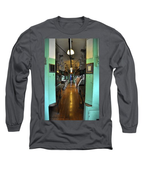 Long Sleeve T-Shirt featuring the photograph The Mail Car From The Series View Of An Old Railroad by Verana Stark