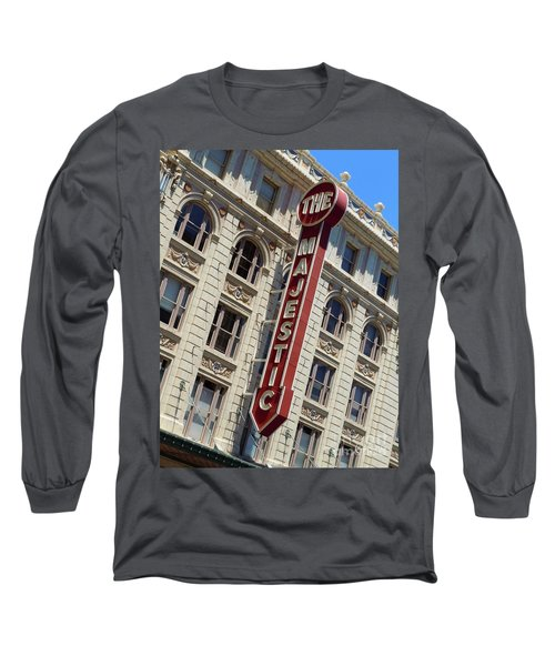 Long Sleeve T-Shirt featuring the photograph The Majestic Theater Dallas #2 by Robert ONeil