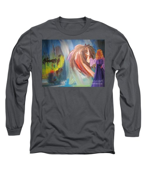 The Majik Of Horses Long Sleeve T-Shirt