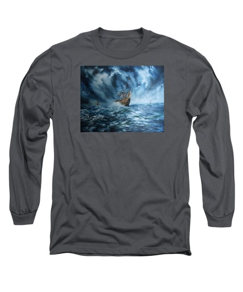 The Mary Rose And Fleet Long Sleeve T-Shirt by Jean Walker