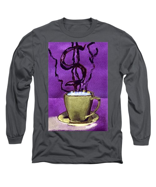 Long Sleeve T-Shirt featuring the painting The Midas Cup by Paula Ayers