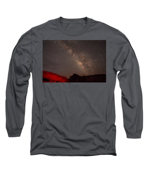 The Milky Way Over Mesa Arch Long Sleeve T-Shirt