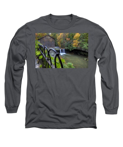 The Mill And Falls At Mill Creek Park Long Sleeve T-Shirt
