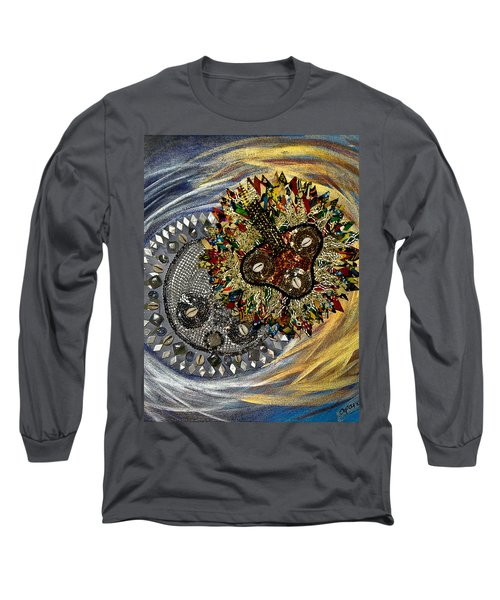 The Moon's Eclipse Long Sleeve T-Shirt by Apanaki Temitayo M