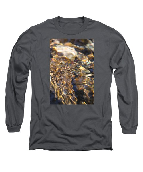 Long Sleeve T-Shirt featuring the photograph The Music And Motion Of Water by Amy Gallagher