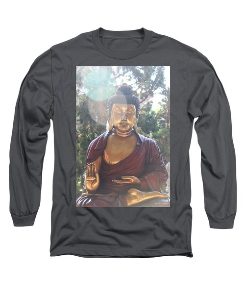Long Sleeve T-Shirt featuring the photograph The Mystical Golden Buddha by Amy Gallagher