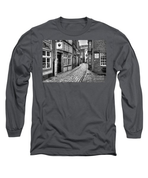 The Narrow Cobblestone Street Long Sleeve T-Shirt