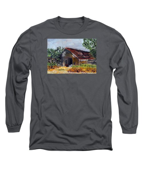 The Old Barn Long Sleeve T-Shirt by Michael Helfen