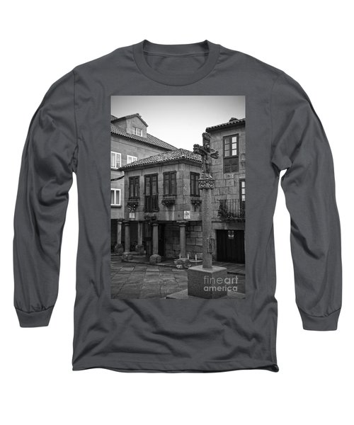 The Old Firewood Marketplace Bw Long Sleeve T-Shirt