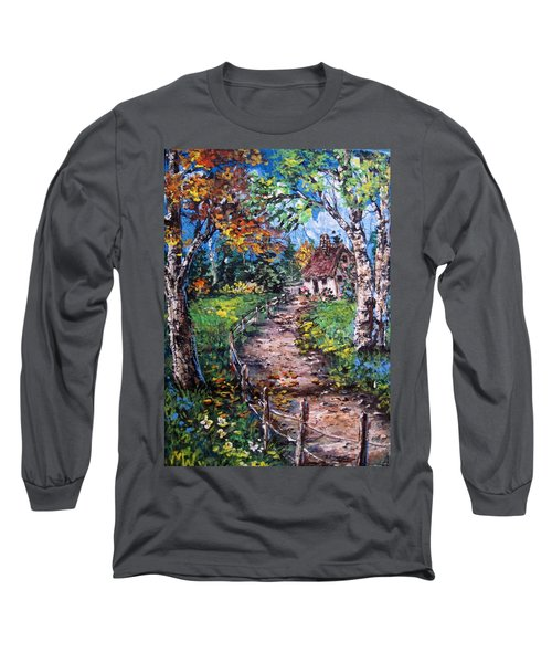 Long Sleeve T-Shirt featuring the painting The Old Homestead by Megan Walsh