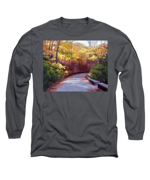 Long Sleeve T-Shirt featuring the painting The Old Roadway In Autumn II by Janet King