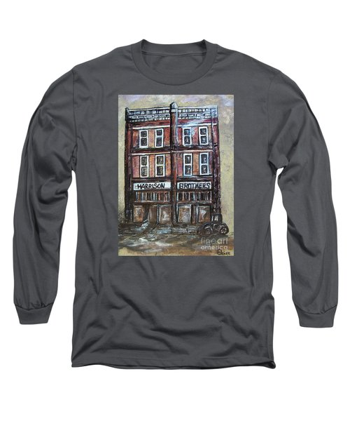 Long Sleeve T-Shirt featuring the painting The Old Store by Eloise Schneider