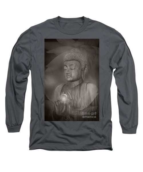 The Path Of Peace Long Sleeve T-Shirt by Sharon Mau