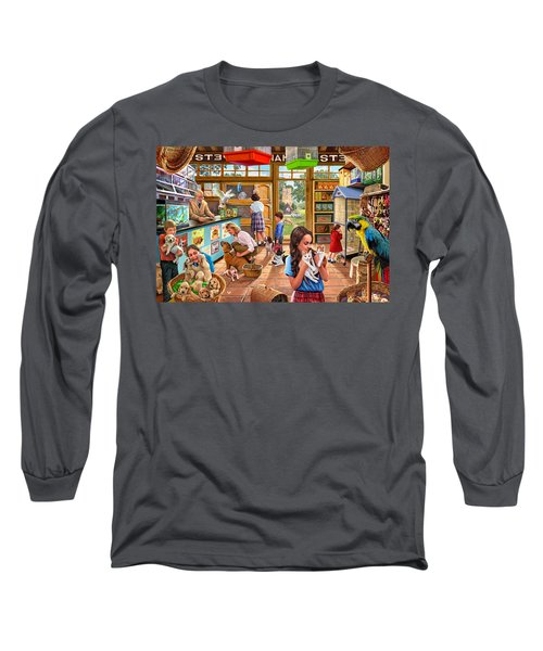 The Pet Shop Long Sleeve T-Shirt by Steve Crisp