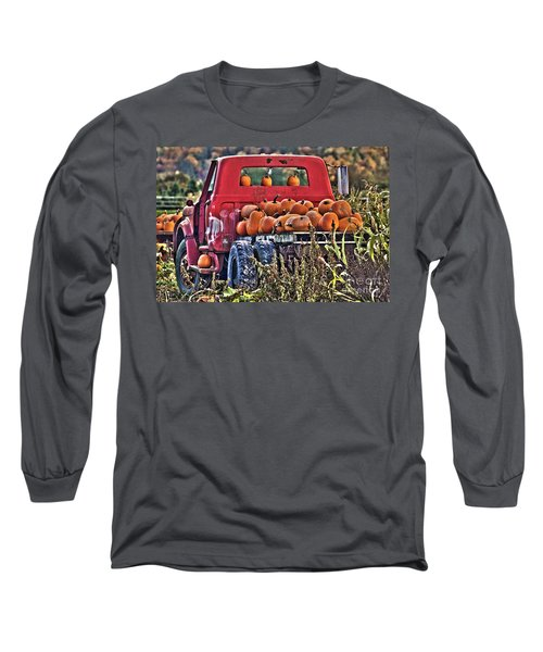 The Pumpkin Hauler Long Sleeve T-Shirt by Sonya Lang