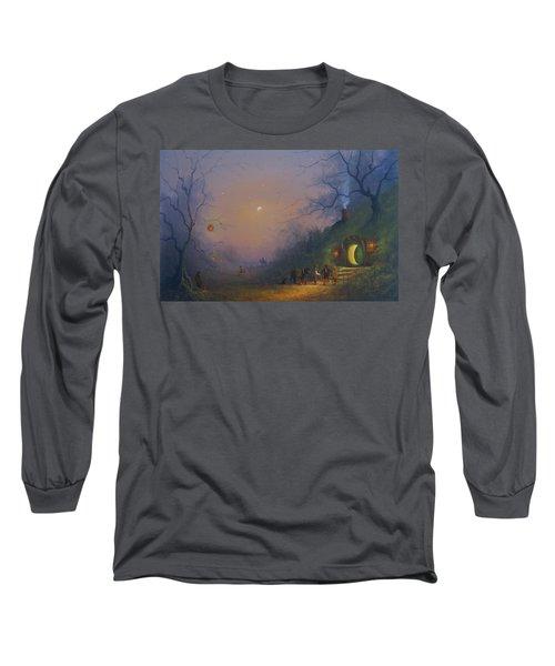 A Hobbits Halloween. The Pumpkin Seller. Long Sleeve T-Shirt by Joe Gilronan