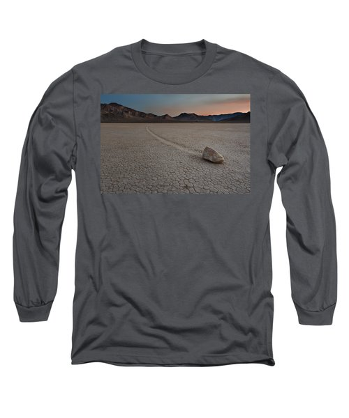 The Racetrack At Death Valley National Park Long Sleeve T-Shirt by Eduard Moldoveanu