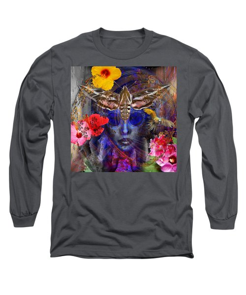 The Search For Hibiscus Life Long Sleeve T-Shirt by Joseph Mosley