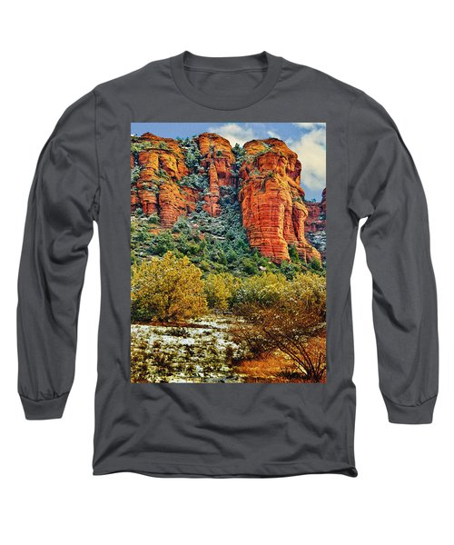Long Sleeve T-Shirt featuring the photograph The Secret Mountain Wilderness In Sedona Back Country by Bob and Nadine Johnston