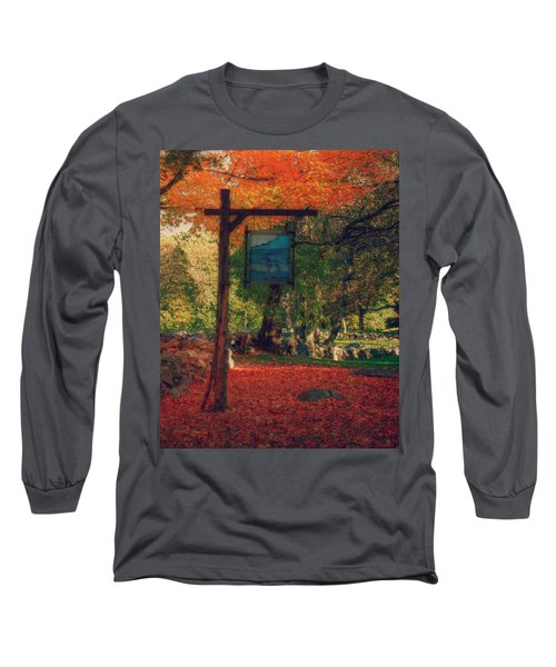 Long Sleeve T-Shirt featuring the photograph The Sign Of Fall Colors by Jeff Folger