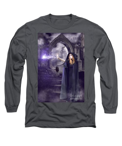 The Spell Is Cast Long Sleeve T-Shirt by Linda Lees