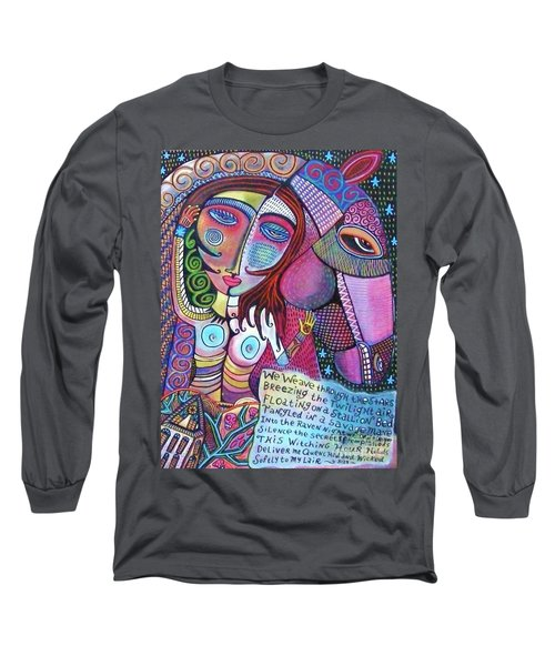 The Stallion And Ghost Goddess Long Sleeve T-Shirt