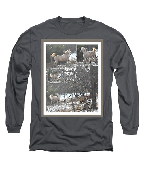 The Stallion Lives In The Country Long Sleeve T-Shirt by Patricia Keller
